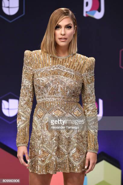attends the Univision's Premios Juventud 2017 Celebrates The Hottest Musical Artists And Young Latinos ChangeMakers at Watsco Center on July 6 2017...