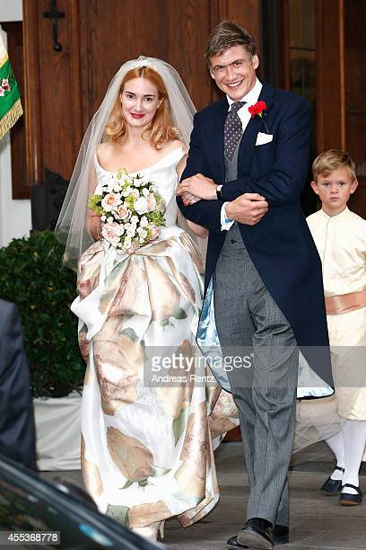 attends the Wedding of Princess Maria Theresia von Thurn und Taxis and Hugo Wilson on September 13 2014 in Tutzing Germany