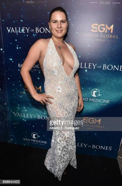 attends the world premiere of 'Valley Of Bones' at ArcLight Hollywood on August 24 2017 in Hollywood California