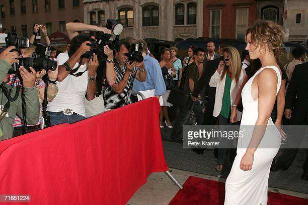 attends Yari Film Group's premiere of The Illusionist at Chelsea West Cinemas August 15 2006 in New York City