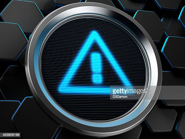 attention icon - error message stock pictures, royalty-free photos & images