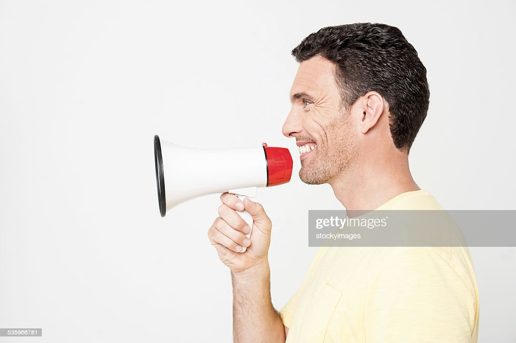 Attention, please listen me ! : Stock Photo