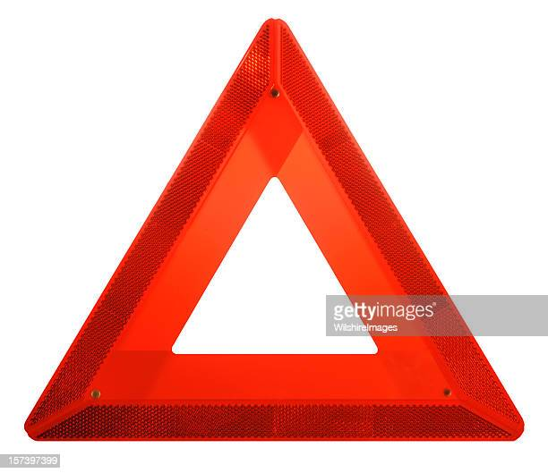 Attention: Red Hazard Danger Ahead Iconic Safety Warning Triangle Sign