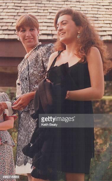 Attention-grabber: Mila Mulroney greets Antonia De Mita; 20; the Daughter of the Italian prime minister; at the McMichael Gallery in Kleinburg last...