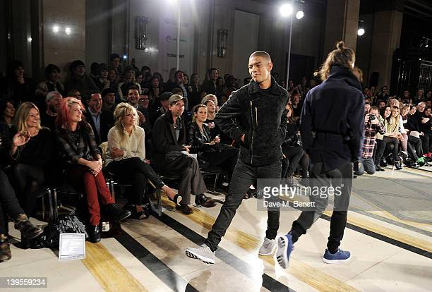 attFazer and Jack Guinness walk the runway in front of Kate Moss Alison Mosshart Jo Wood Alister Mackie Sam Gainsbury Grace Woodward Zara Martin Mr...