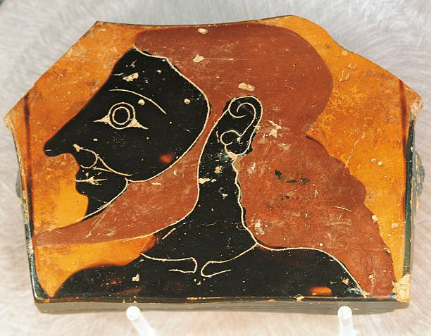 Attic Black Figure Krater Vase Used To Mix Wine And Water Painted