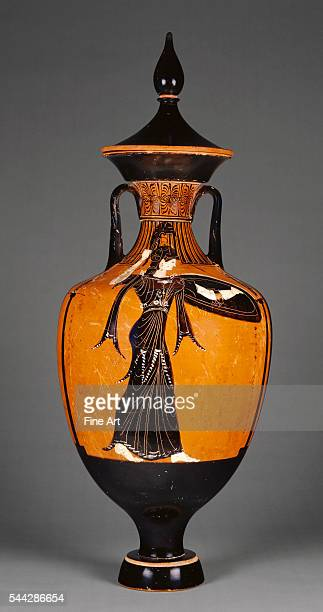 Attic BlackFigure Panathenaic Amphora with Athena attributed to the Marsyas Painter from the Athenian Games 340339 BC terracotta made in Athens 785 x...
