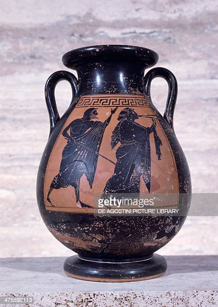 Attic blackfigure pelike Greek civilisation 6th century BC Paestum Museum