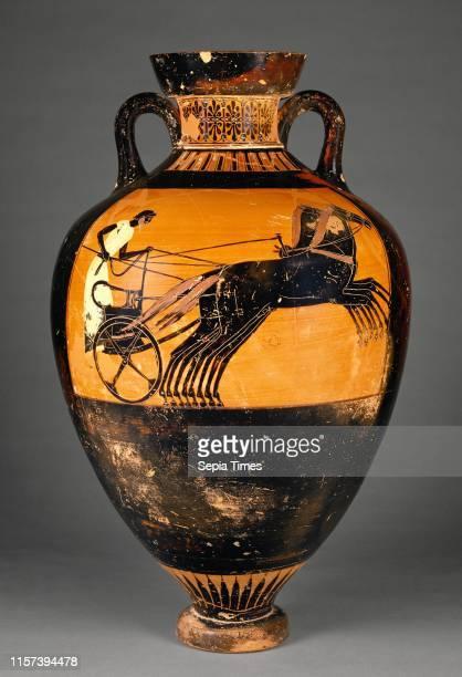 Attic Panathenaic Amphora Kleophrades Painter Greek active 505 475 BC Athens Greece Europe 490 480 BC Terracotta Object H 65 x Diam 403 cm Object...