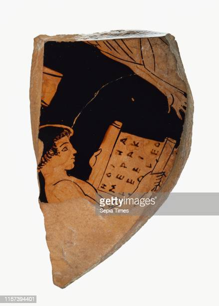 Attic RedFigure Cup Fragment Akestorides Painter Greek active about 470 450 BC Athens Greece Europe about 470 450 BC Terracotta Object 68 cm