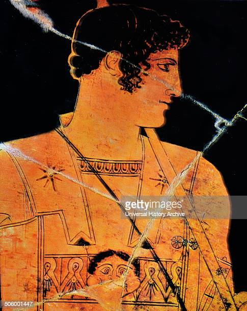 Attic redfigure of Achilles A Greek hero of the Trojan War and the central character and greatest warrior of Homer's Iliad