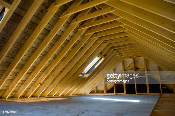 Attic space in newly-built house