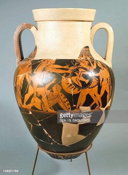 Attic vase redfigure pottery by the Andokides painter Ancient Greek civilization Magna Graecia 5th Century BC Orvieto Museo Claudio Faina