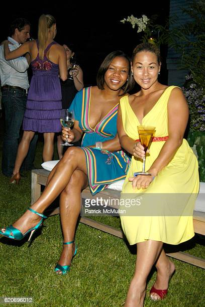 Attica Jake and Samthia Muton attend The Rush Philanthropic ART FOR LIFE Party hosted by Don and Katrina Peebles at The Home of Don and Katrina...
