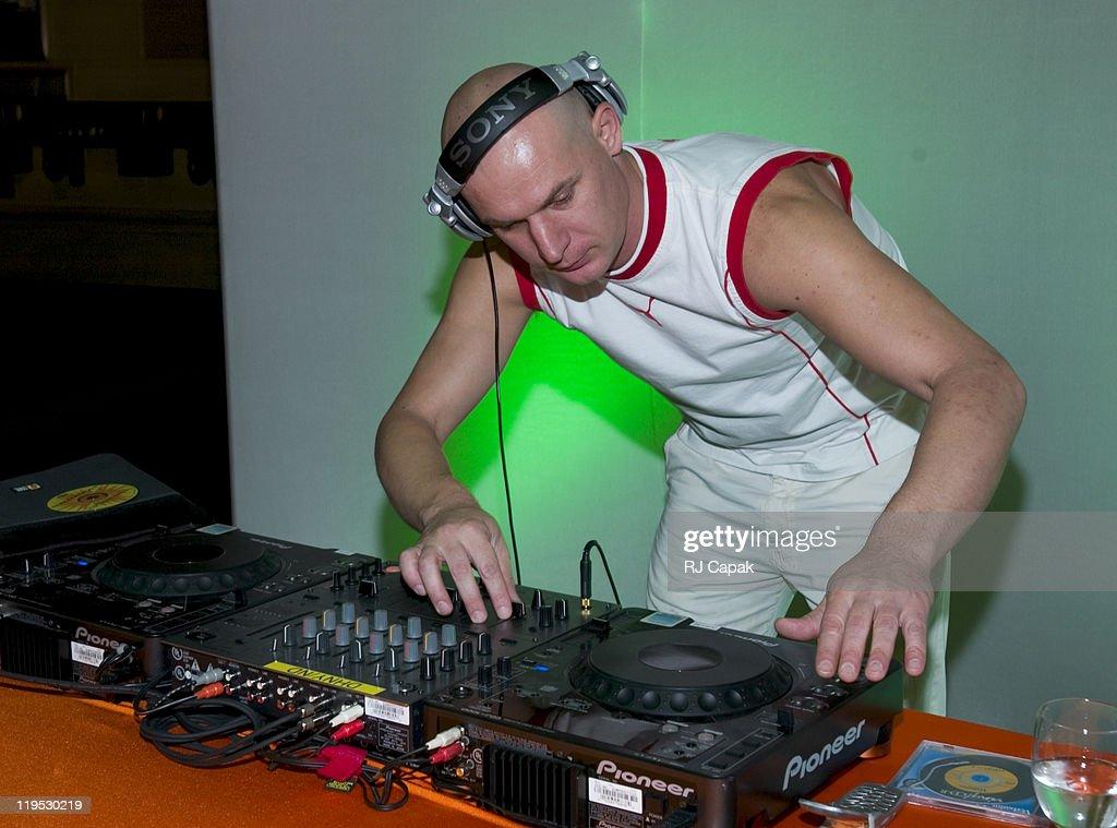 DJ 'Attila Da Hun' providing music for the New Gillette M3Power