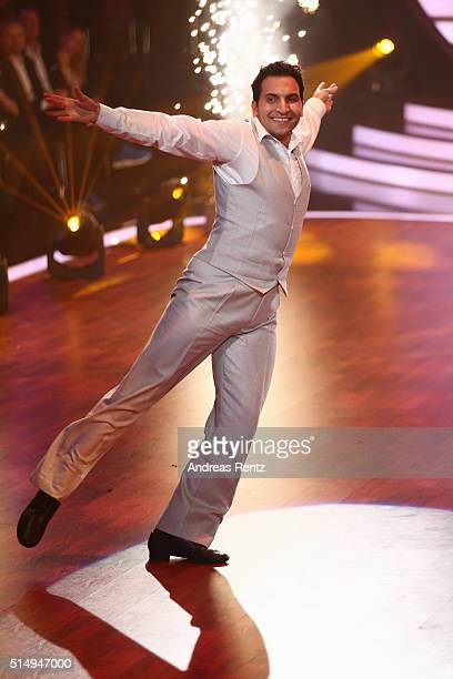 Attila Hildmann performs on stage during the 1st show of the television competition 'Let's Dance' on March 11 2016 in Cologne Germany