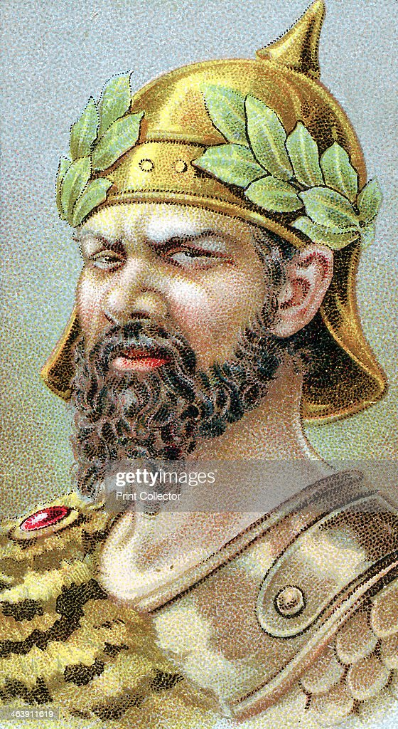 Attila (c406-453) King of the Huns from 434, 19th century. : News Photo