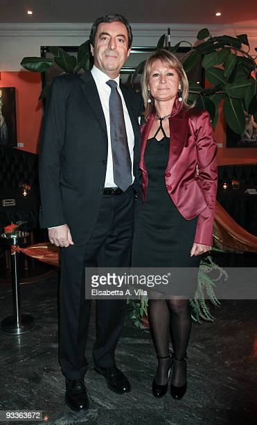 Attilio Romita and wife Angela attends '2009 Margutta Awards' at Margutta RistoArte on November 24 2009 in Rome Italy