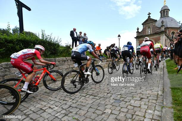 Attilio Viviani of Italy and Team Cofidis, Diogo Barbosa of Portugal and Team Hagens Berman-Axeon, Jim Brown of United Kingdom and Team Canyon Dhb...