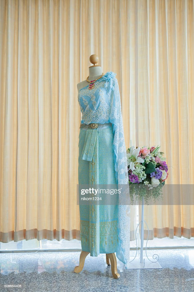 attire lady thailand Thai dress, identity culture of Thailand : Stock Photo