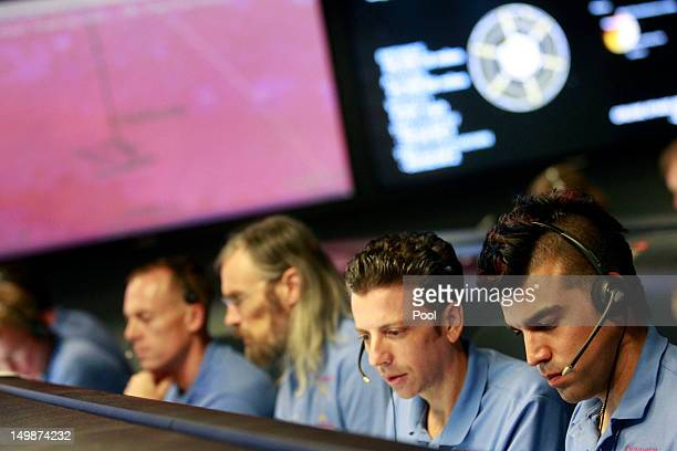 Attitude Control system engineer Martin Greco and Activity lead Bobak Ferdowsi , work inside the Spaceflight Operations Facility for NASA's Mars...