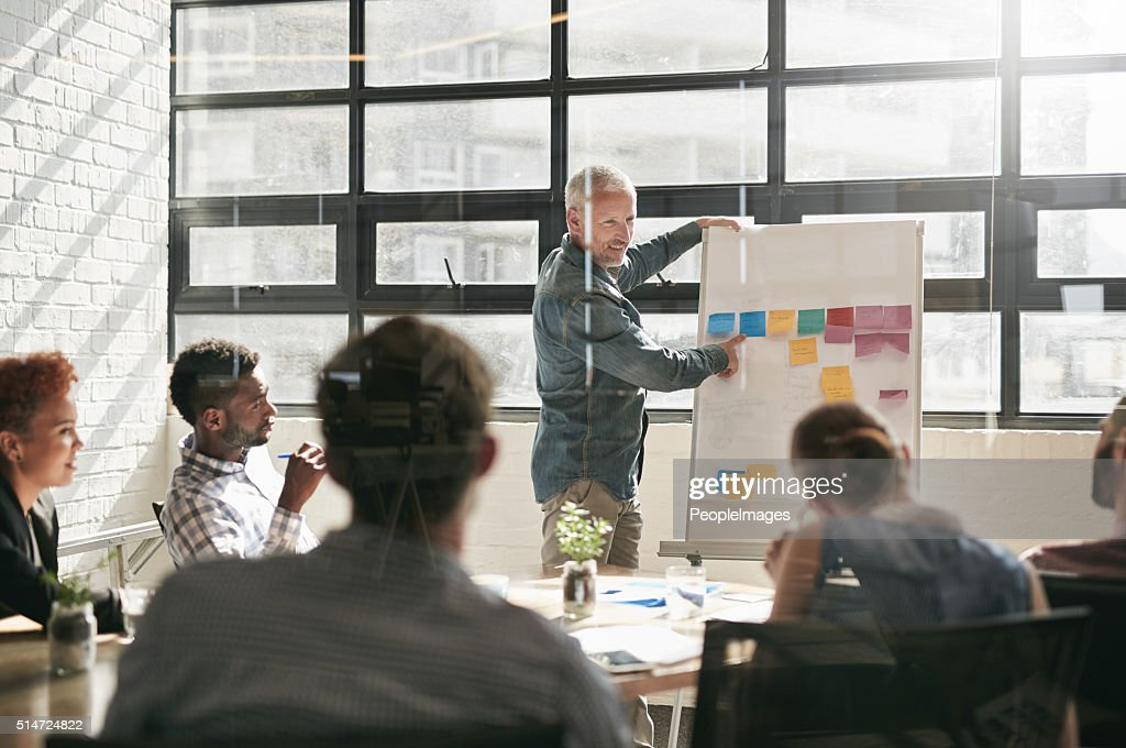 Attitude reflects leadership : Stock Photo