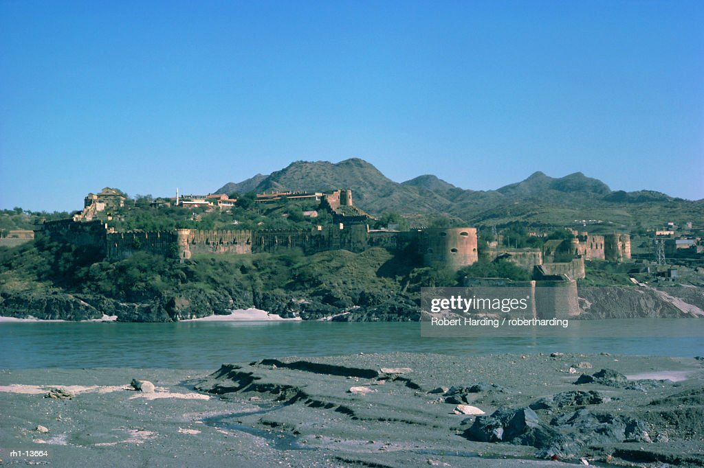 Attock Fort and River Indus, Pakistan, Asia : Foto de stock