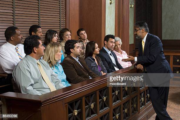 attorney addressing jury - juror law stock pictures, royalty-free photos & images