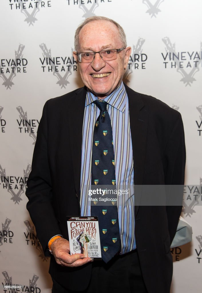 Attorney Alan Dershowitz attends the 'Can You Forgive Her?' Opening Night at the Vineyard Theatre on May 21, 2017 in New York City.