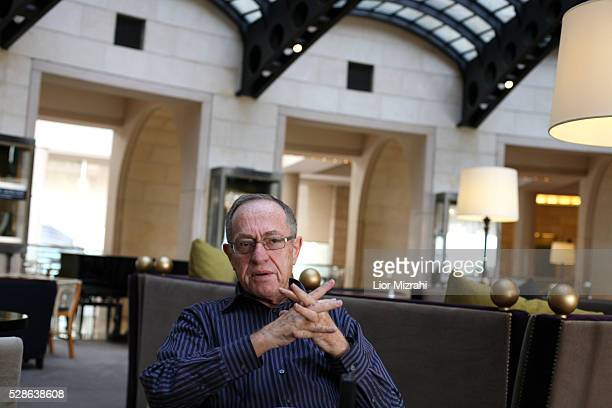 Attorney Alan Dershowitz speaks during an interview on May 18 2010 in Jerusalem Israel