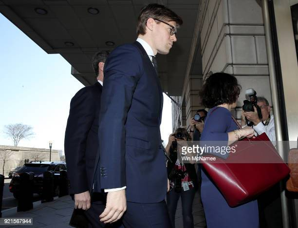 Attorney Alex van der Zwaan enters US District Court prior to a scheduled appearance February 20 2018 in Washington DC Van der Zwaan has been charged...