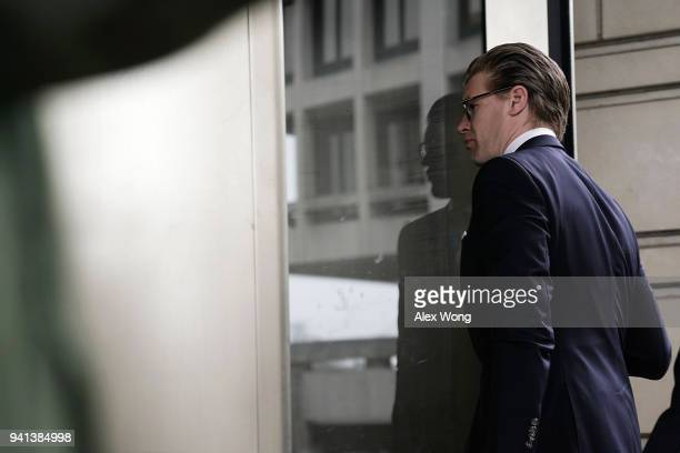 Attorney Alex van der Zwaan who formerly worked for the Skadden Arps law firm arrives at a US District Courthouse for his sentencing April 3 2018 in...