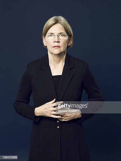 Attorney and Chairperson of the Congressional Oversight Panel Elizabeth Warren poses at a portrait session for Time Magazine in 2010 Published image