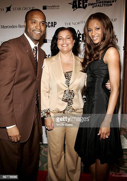 Attorney and Chief Counsel of AEC Londell McMillian President and Chief Operating Officer of BET Debra Lee and Singer Ciara arrive to the Artist...