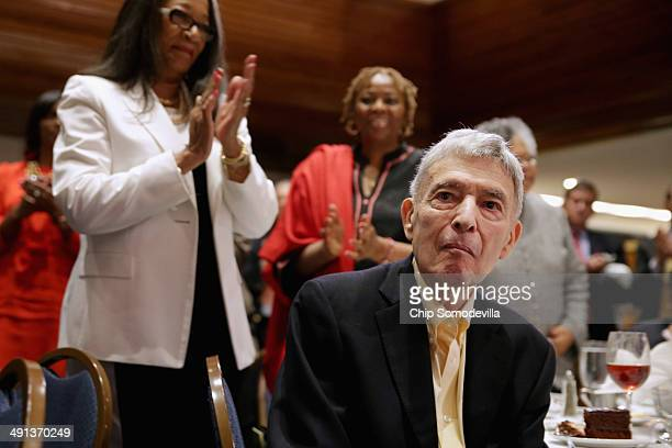 Attorney and legal scholar Jack Greenberg receives a standing ovation from the audience at the NAACP Legal Defense Fund's luncheon to commemorate the...