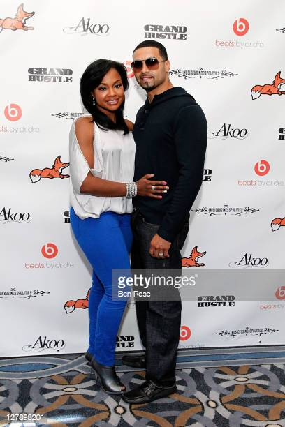 Attorney and TV personality Phaedra Parks and her husband Apollo Nida attend TI's AKOO Clothing First Annual A King Of Oneself Brunch at The Mansion...
