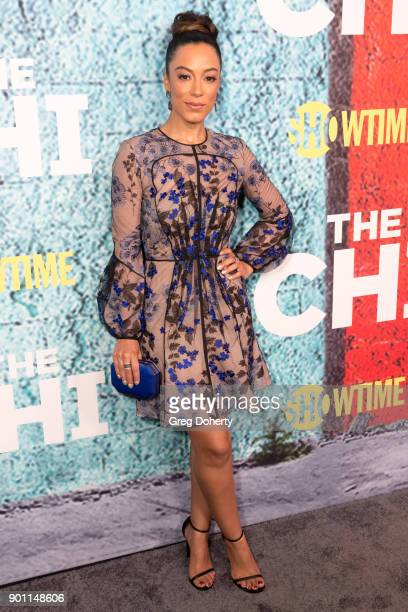 Attorney Angela Rye attends the Premiere Of Showtime's 'The Chi' at Downtown Independent on January 3 2018 in Los Angeles California