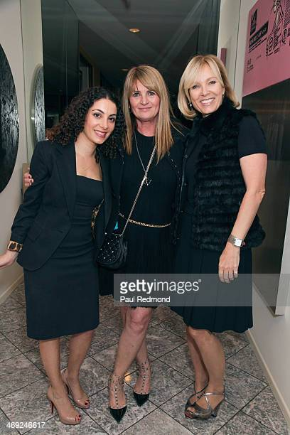 Attorney Aurele Danoff publicist Marilyn Heston and Deborah McCloed attending Art Los Angeles Contemporary Private Reception at the home of Sam and...