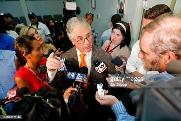 Attorney Bill Scherer, representing Florida Gov. Rick Scott's U.S. Senate campaign, speaks with the media during a break in a canvassing board...