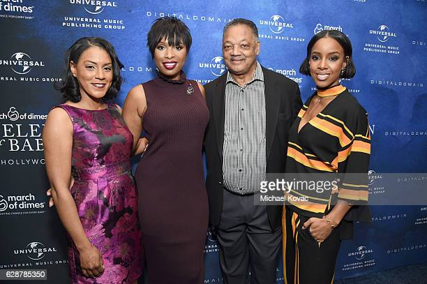 Attorney Brenda Robinson honoree Jennifer Hudson reverend Jesse Jackson and musician Kelly Rowland attend 2016 March of Dimes Celebration of Babies...
