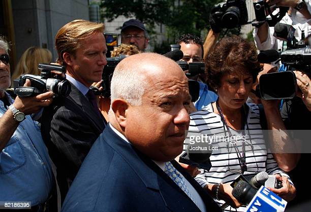 Attorney Charles Carnesi speaks about his client John Junior Gotti as he answers questions from reporters outside the Federal Court House August 5...