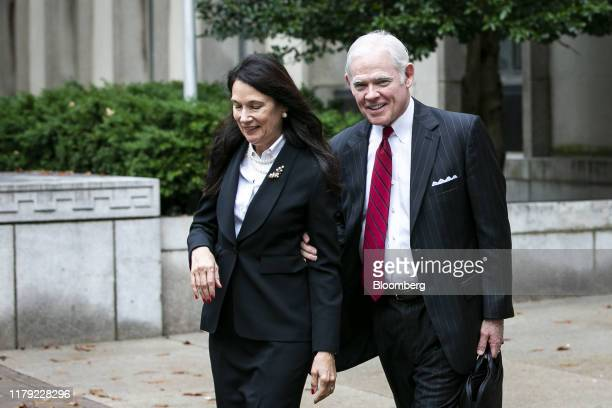 Attorney Charles Chuck Cooper representing a former John Bolton aide Charles Kupperman right departs federal court in Washington DC US on Thursday...