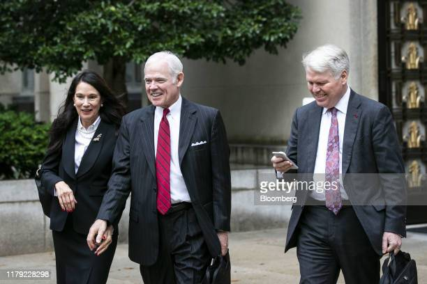 Attorney Charles Chuck Cooper representing a former John Bolton aide Charles Kupperman center departs federal court in Washington DC US on Thursday...