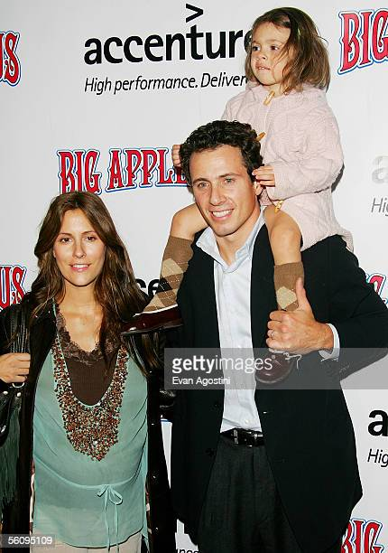 Attorney Chris Cuomo wife Cristina Greeven Cuomo and daughter Bella attend the Big Apple Circus opening night gala benefit at Damrosch Park Lincoln...