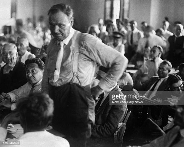Attorney Clarence Darrow as he is consulting with Judge Raulston about procedure in the Tennessee courts during the trial of John T Scopes The great...