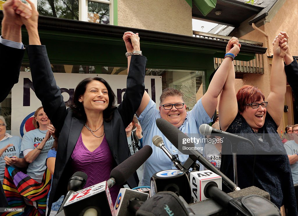 Gay Marriage Legalized Nationwide by U.S. Supreme Court : News Photo