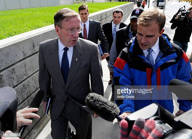 Attorney Dave Gaouette answers a few questions regarding terror suspect Najibullah Zazi as he leaves the Alfred A Arrj United States Court House in...