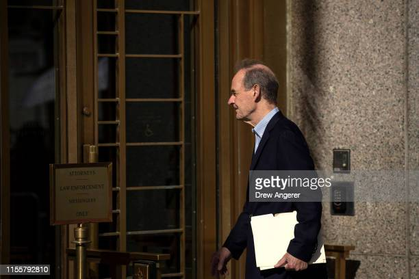 Attorney David Boies representing several alleged victims of Jeffrey Epstein arrives at federal court for a bail hearing for Jeffrey Epstein July 15...