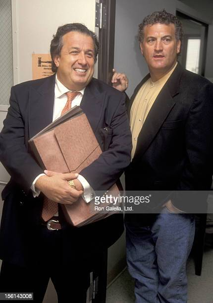 Attorney Dominic Barbara and Joey Buttafuoco attend Joey Buttafuoco's Arraignment Hearing on Solicitation of Prostitution Charge on July 7 1995 at...