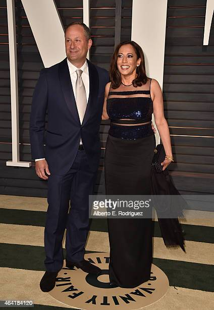 Attorney Douglas Emhoff And California General La Harris Attend The 2017 Vanity Fair Oscar Party